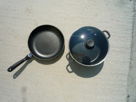 image of  Special pot and special pan for solar cooking